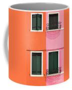 Burano Pink And Orange Coffee Mug