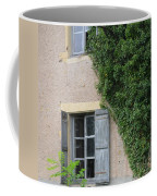 Wood Shutters With Vine Coffee Mug