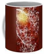 Burgundy Tree Abstract Coffee Mug