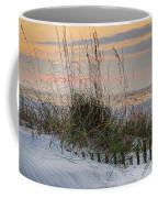 Buried Fence And Sea Oats Sunrise Coffee Mug