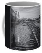Burlington Vermont Train Yard Vintage Grunge Black And White Coffee Mug