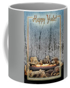 Burning Yule Log Coffee Mug