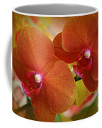 Burnt Orange Orchids Coffee Mug