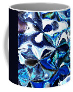 Bursts Of Blue And White - Abstract Art Coffee Mug by Carol Groenen