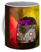 Bus In A Cloud Of Multi-color Smoke Coffee Mug