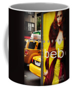 Bus Poster With Taxis - New York Coffee Mug