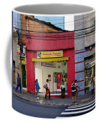 Bus Stop On Rua Teodoro Sampaio Coffee Mug