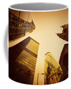Business Architecture Skyscrapers In London Uk Golden Tint Coffee Mug