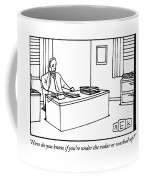 Businessman Talking On The Telephone At His Desk Coffee Mug