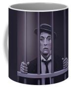 Buster Keaton Painting Coffee Mug