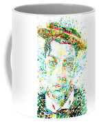 Buster Keaton - Watercolor Portrait Coffee Mug