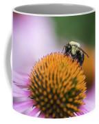 Busy Bee On Cone Flower Coffee Mug