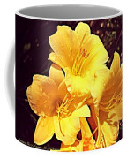 Butter Yellow Lilly Cluster Coffee Mug