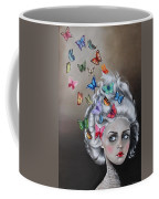 Butterflies In The Thoughts Coffee Mug