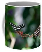 Butterflies On A Wire C Coffee Mug