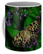 Butterfly - Yellow Green Purple Coffee Mug