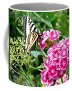 Butterfly And Sweet Williams Coffee Mug