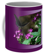 Butterfly Black 16 By 20 Coffee Mug