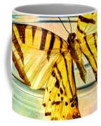 Butterfly Blue Glass Jar Coffee Mug by Bob Orsillo