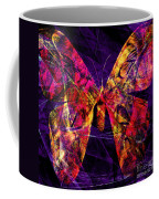 Butterfly In Abstract Dsc2977 Square Coffee Mug