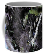 Butterfly In Violet Green And Black Coffee Mug