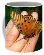 Butterfly Landing Coffee Mug