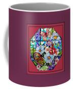 Butterfly Octagon Stained Glass Window Coffee Mug