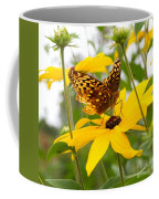 Butterfly On Blackeyed Susan Coffee Mug