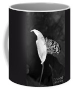Butterfly On Peace Lilly Coffee Mug