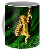 Butterfly On Pine Coffee Mug