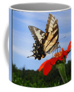 Butterfly On Red Daisy Coffee Mug