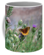 Butterfly On Thistle Coffee Mug