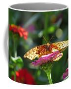 Fritillary Butterfly On Zinnia Coffee Mug