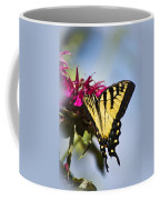 Butterfly Out Of The Blue - Blue Butterfly Art Coffee Mug