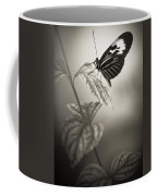 Butterfly Warm Black And White Coffee Mug