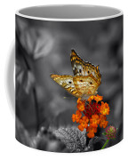 Butterfly Wings Of Sun Light Selective Coloring Black And White Digital Art Coffee Mug
