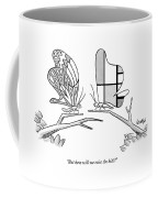 Butterfly With A Mondrian Design On His Wings Coffee Mug