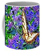 Butterfly With Purple Flowers 2 Coffee Mug