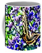 Butterfly With Purple Flowers 4 Coffee Mug