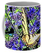 Butterfly With Purple Flowers Coffee Mug