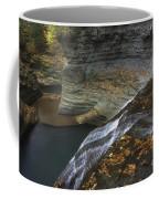 Buttermilk Falls In Autumn I Coffee Mug