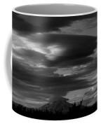 Bw Clouds Over Mt Adams Coffee Mug