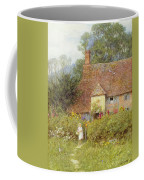 By The Cottage Gate Wc On Paper Coffee Mug