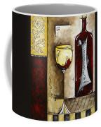 By The Fireside Original Madart Painting Coffee Mug