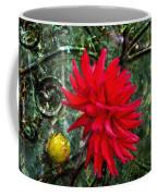 By The Garden Gate - Red Dahlia Coffee Mug