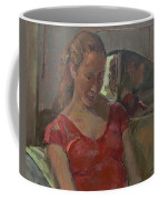 By The Old Mirror, 2009 Oil On Canvas Coffee Mug