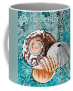 By The Seaside Original Coastal Painting Colorful Urchin And Seashell Art By Megan Duncanson Coffee Mug