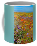 Ca Poppies And Goldfields And Lacy Phacelia And Sage In Antelope Valley Ca Poppy Reserve-california Coffee Mug