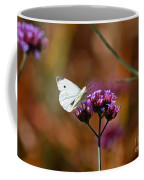 Cabbage White Butterfly In Fall Coffee Mug