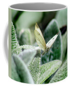 Cabbage White Butterfly In Flight Coffee Mug